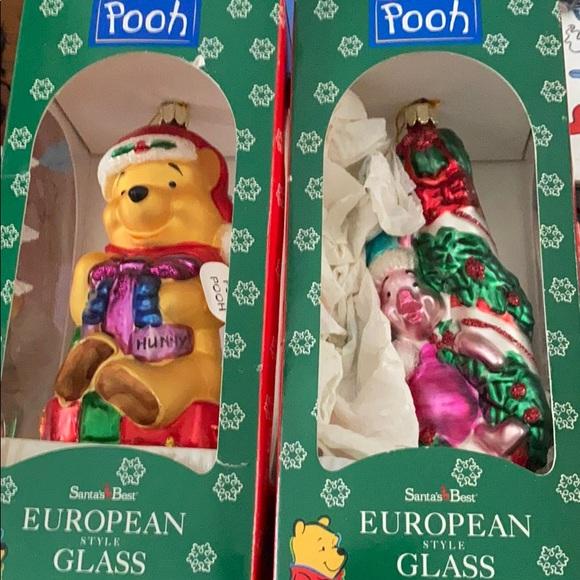 Vintage Winnie the POOH piglet Christmas ornaments